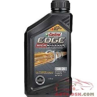 Castrol EDGE Full Synthetic High Mileage Motor Oil, 5W-20 (1 Quart) - 06122