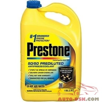 Prestone 50/50 Ready-To-Use Prediluted Extended Life AMAM Antifreeze/Coolant, 1 Gal. - part #AF2100