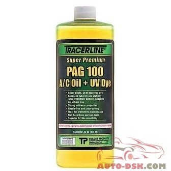 Tracer Products 32 oz. Bottle PAG 100 A/C Oil with Dye - part #TRATD100PQ