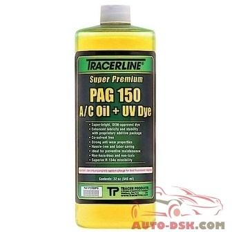 Tracer Products 32 oz. Bottle PAG 150 A/C Oil with Dye - part #TRATD150PQ