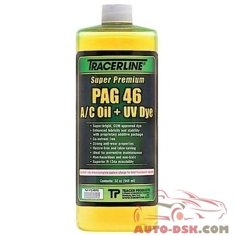 Tracer Products 32 oz. Bottle PAG 46 A/C Oil with Dye - part #TRATD46PQ