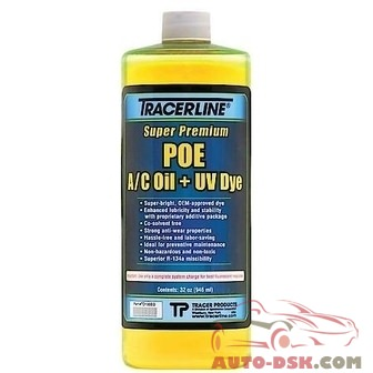 Tracer Products 32 oz. bottle POE A/C Oil with UV Dye - part #TRATD100EQ