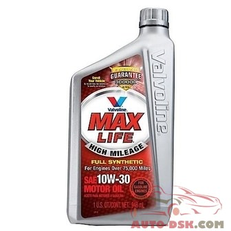 Valvoline MaxLife Full Synthetic High Mileage 10W30 Motor Oil - VV180